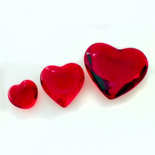 coração peso para papel