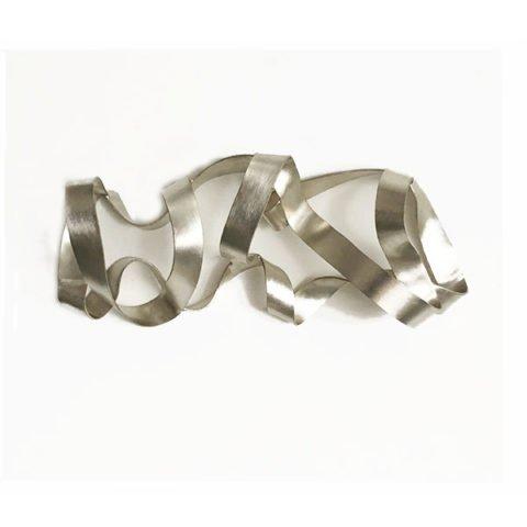 Escultura de parede prata Ciclus Prata