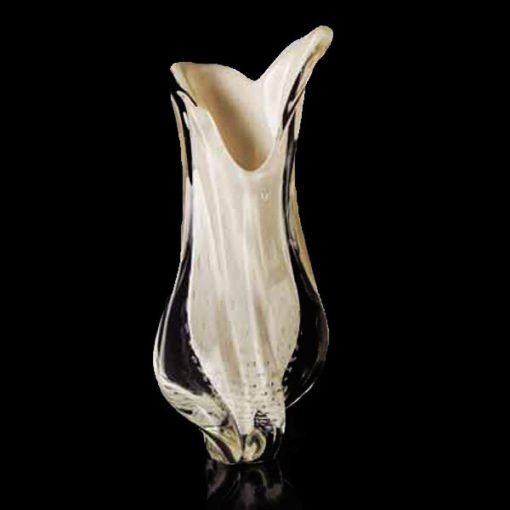 Vaso de Cristal Murano na cor Pérola