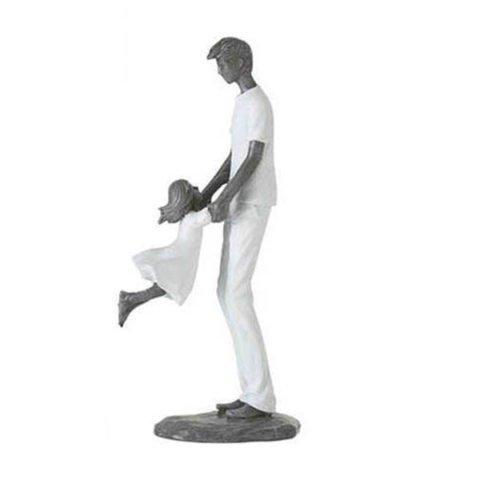Escultura Pai e filha Brincando