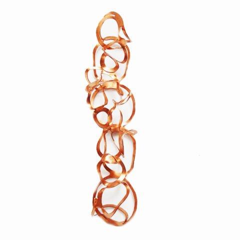 Escultura de parede Anéis cobre