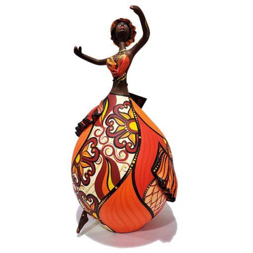 Bailarina feita com Cabaça Bapi