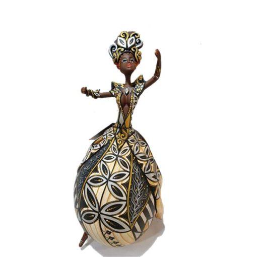 Bailarina em Cabaça com cristais Swaroviskis