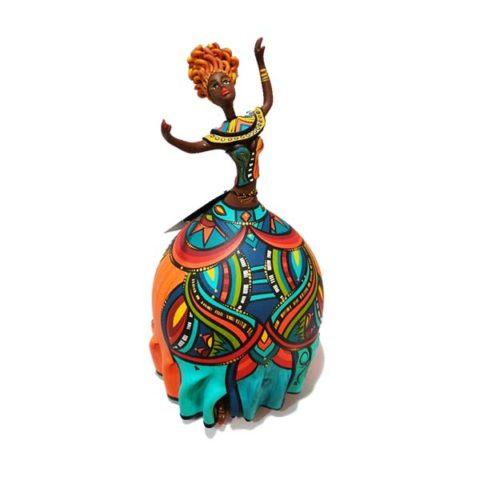 Boneca Bapi feita em Cabaça Bapi