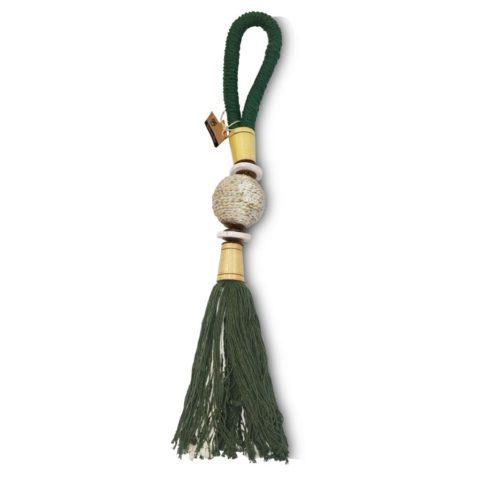 colar para mesa verde musgo