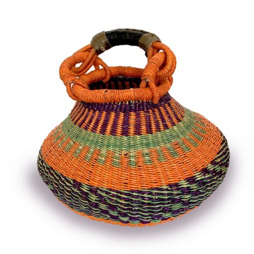 Cesta multicolorida africana - Ghana Bolga M