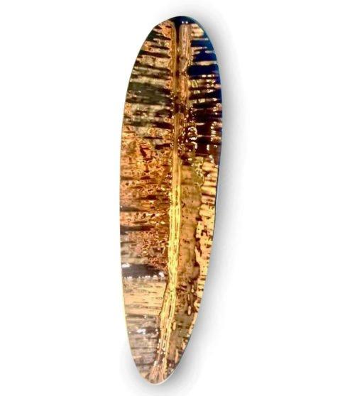 Escultura de Parede Folha de Bananeira Bronze