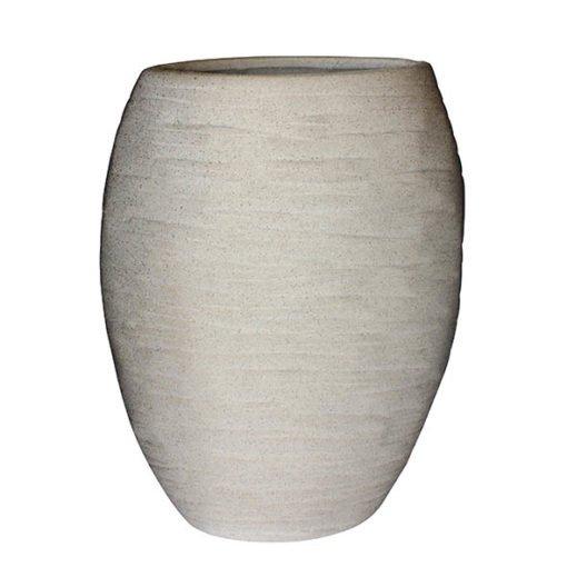Vaso de Cerâmica Cinza areado 37 cm