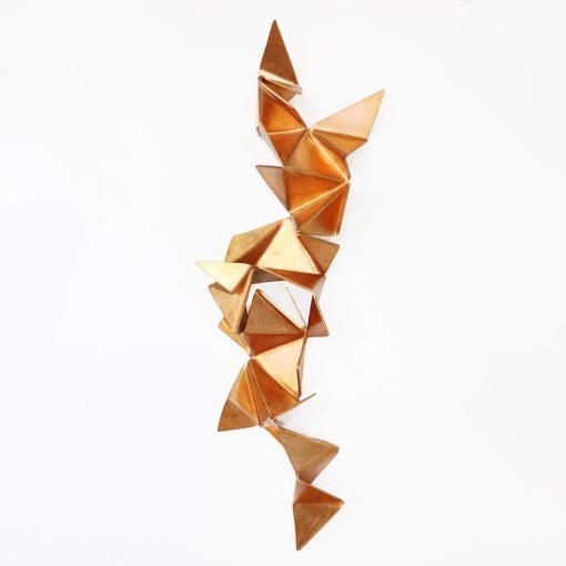 Escultura para parede Cobre - Série Origami
