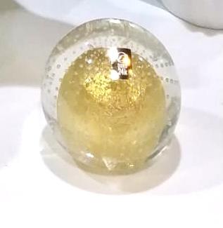 Bola de murano cristal com ouro
