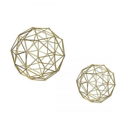Decoração Geométrica Dourada