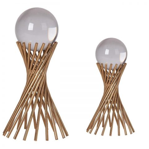 Escultura Metal com Esferas