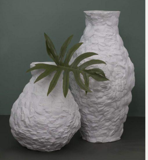 vaso em porcelana Edros pedra