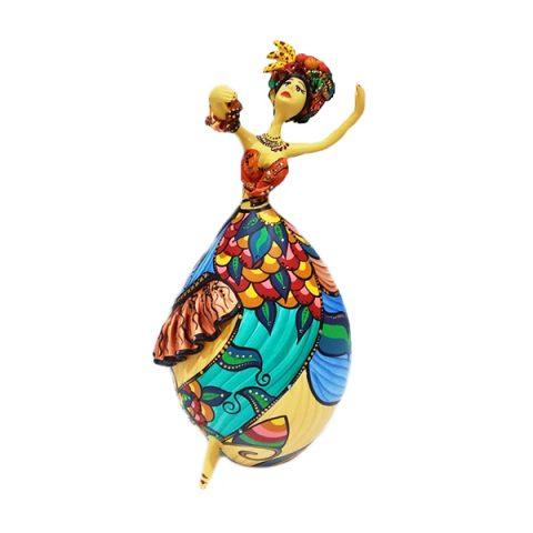Boneca feita em Cabaça Bapi Carmen Miranda