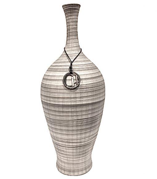 vaso de cerâmica cinza retrô