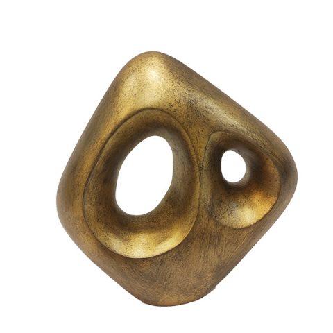 Escultura Angular Ouro Envelhecido