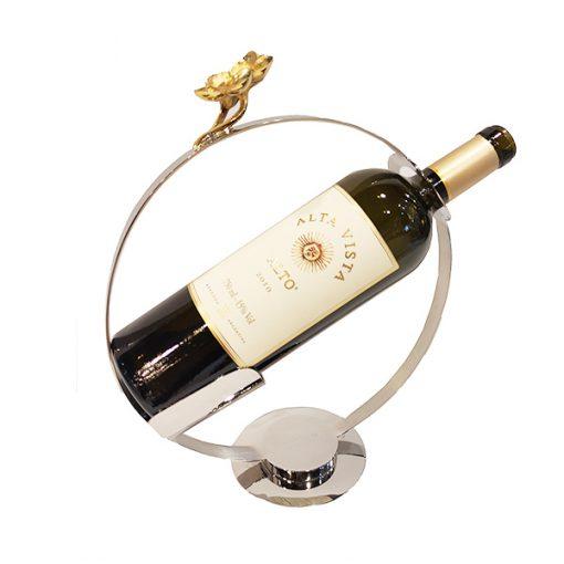 Servidor de Vinho com Flor Dourada