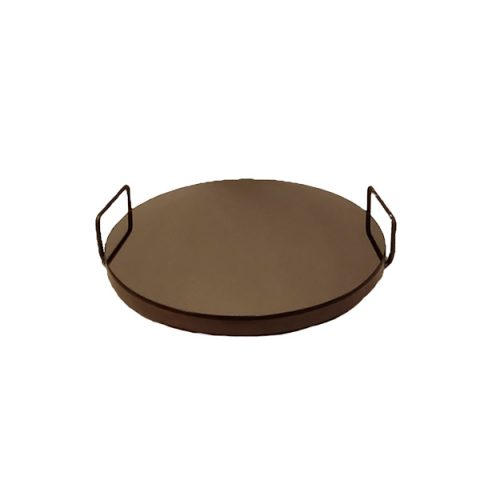 Bandeja Redonda Espelhada Bronze