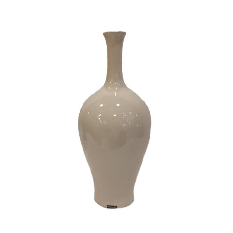 Vaso em Cerâmica Nude Brilhante