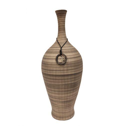 Vaso em Cerâmica Cinza Retro