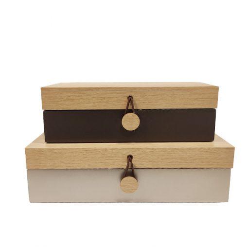 Caixas Decorativas em madeira
