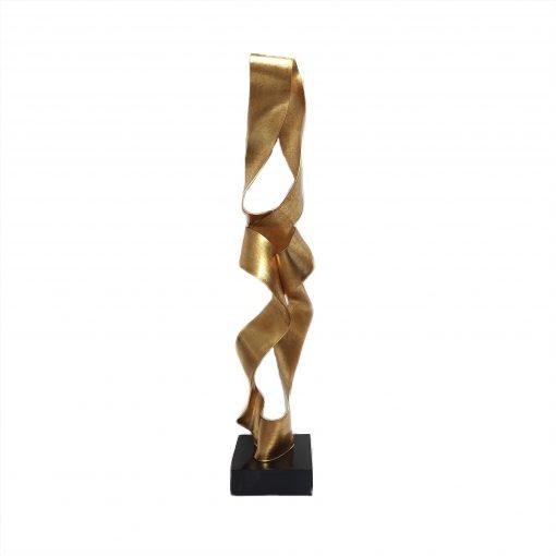 escultura ouro velho com base preta
