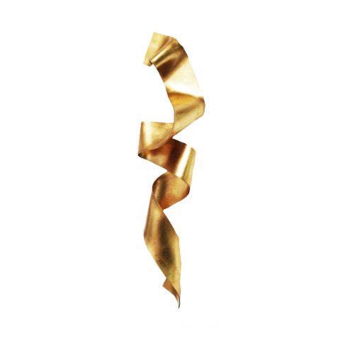 Escultura para parede fita Ouro