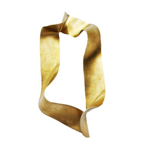 escultura de parede ouro velho